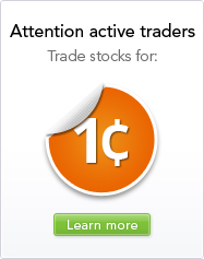 Attention active traders - trade stocks for 1 cent