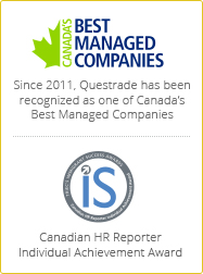 Questrade is a 2011 winner of Canada's 50 Best Managed Companies program. Canadian HR Reporter Individual Achievement Award