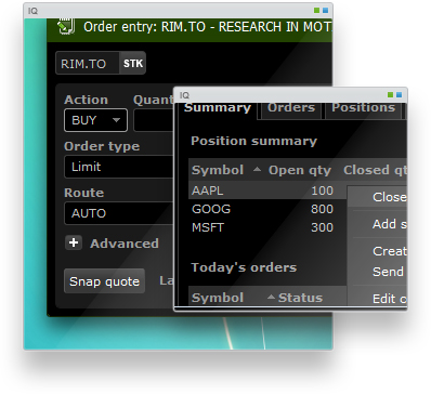 Trading as it should be. Connect directly to the markets with more order types, enhanced account info, and instant buying power updates.