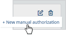 New manual authorization